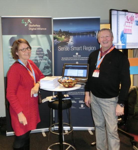 Lena Staflund Tieto och Leif Häggmark ordförande Skelleftea Digital Alliance